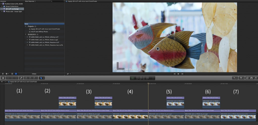 Screenshot_FCPX_compare_LUTs_and_renders
