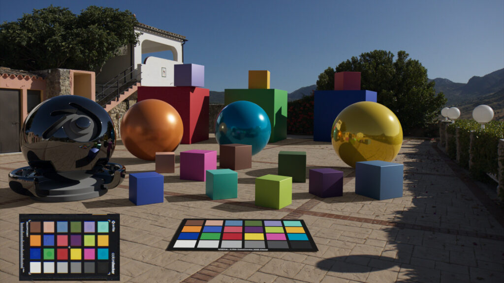 Blender / ACES and color checkers.